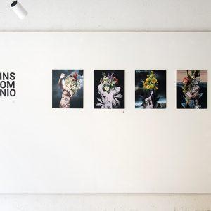 Collages digitales. Vinilo sobre cartón pluma. Exposición en La U mutante